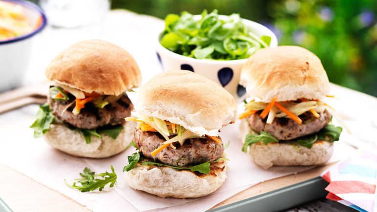 Image: Pork and apple sliders with fennel slaw