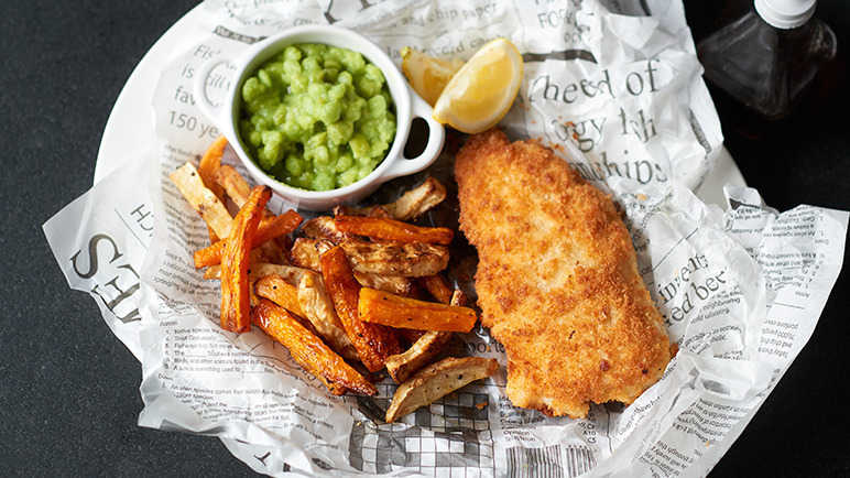 Image: Healthy fish and chips