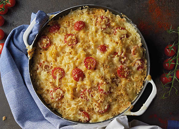 Image: Horseradish mac and cheese