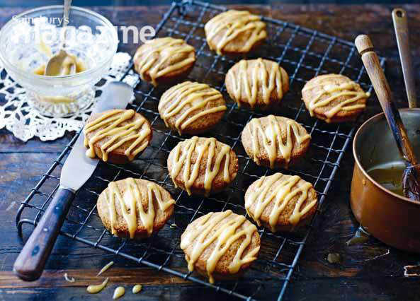 Image: Coffee, cardamom and almond friands with toffee drizzle