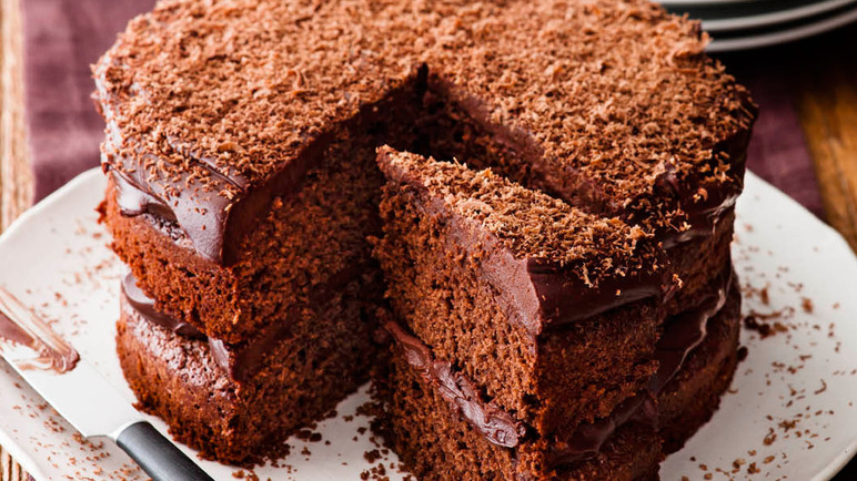 Reduced Sugar Chocolate Cake