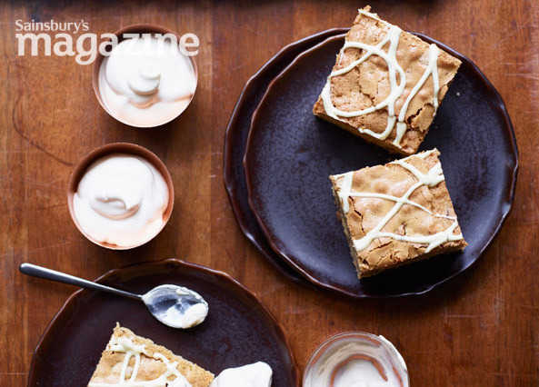 Image: Blondie cappuccino squares with coffee cream
