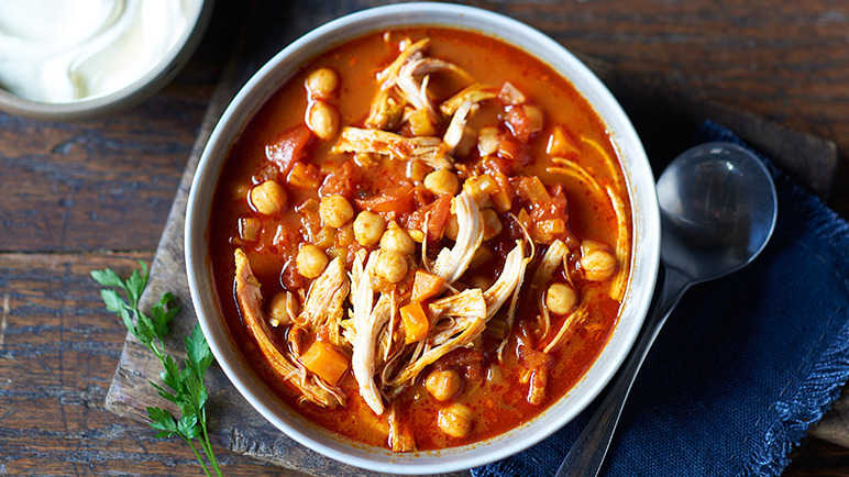 Image: Harissa chicken and chickpea soup