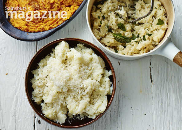 Garlic and parmesan olive oil mash