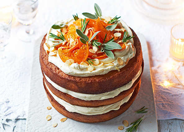 Image: Almond and clementine cake