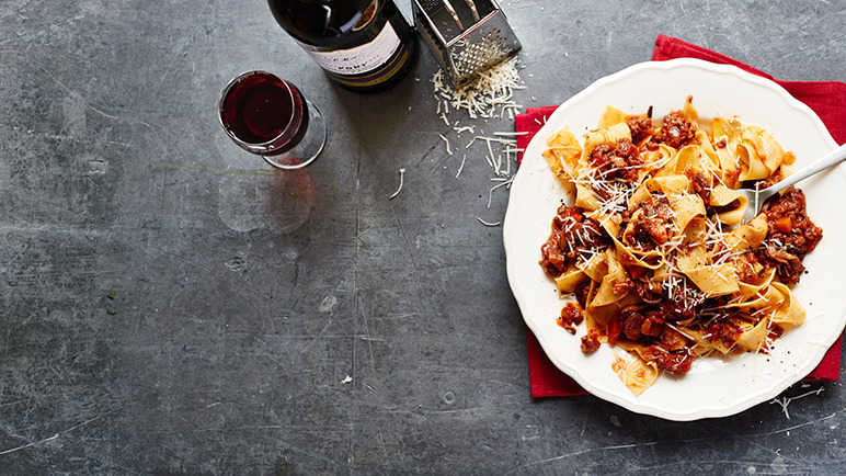 Image: Pappardella with pork and port