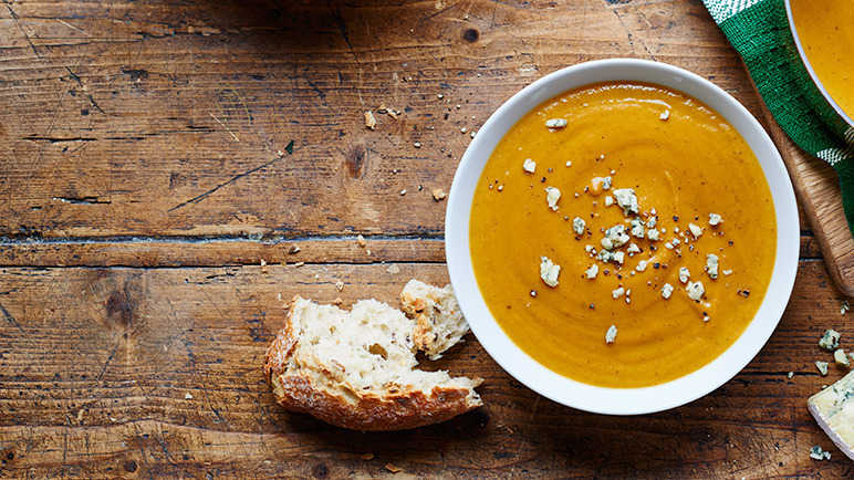 Image: Roast vegetable and Stilton soup