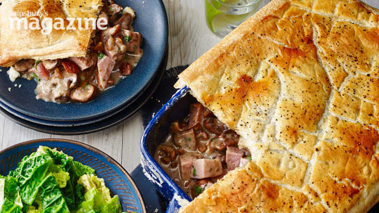 Image: Ham, mushroom and chestnut pie