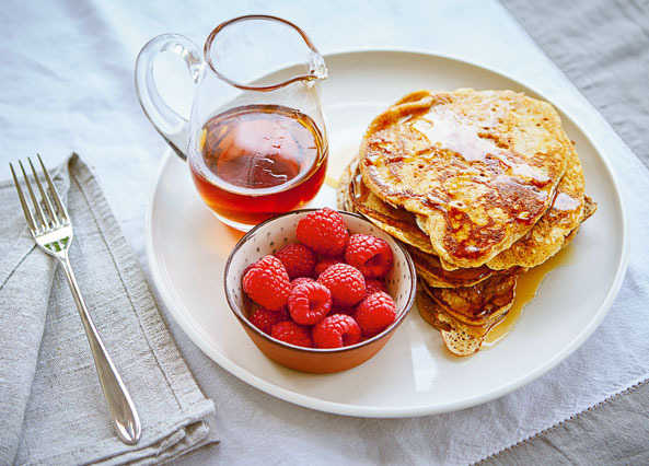 Image: Sprouted spelt American pancakes