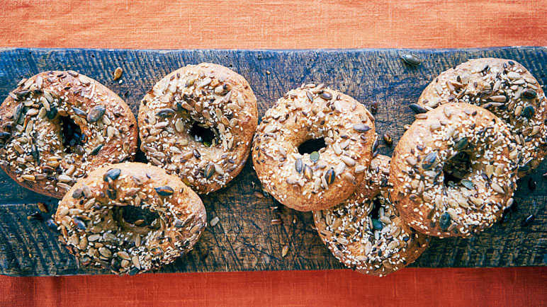 Image: Honey-crust sprouted spelt bagels