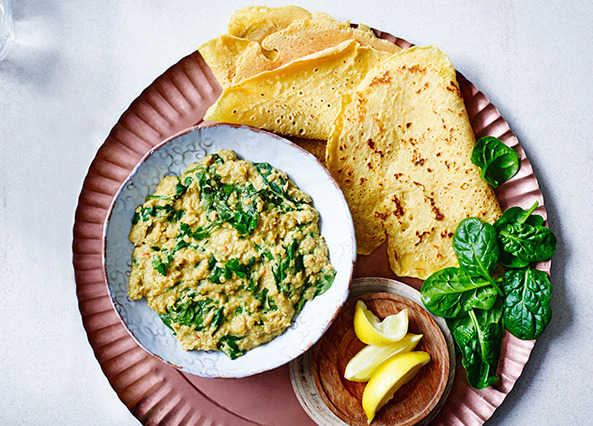 Image: Spinach and coconut dhal with