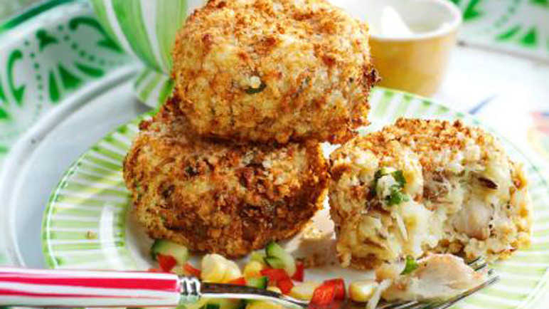 Image: Mini smoky fishcakes