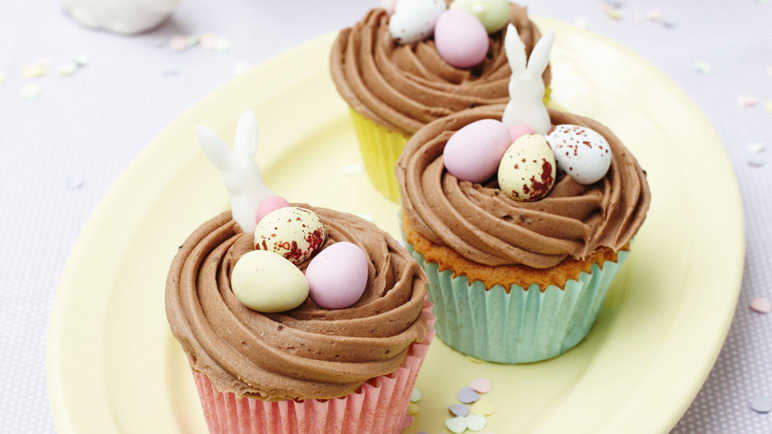 Image: Chocolate Easter nest cupcakes