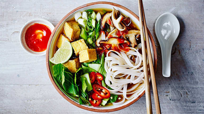 Image: Vegetarian pho with tofu