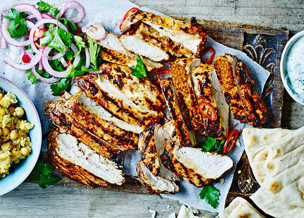Recipe chargrilled chicken shawarma with smashed sainsburys forumfinder Gallery