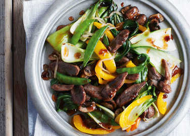 Image: Duck stir-fry with plum sauce