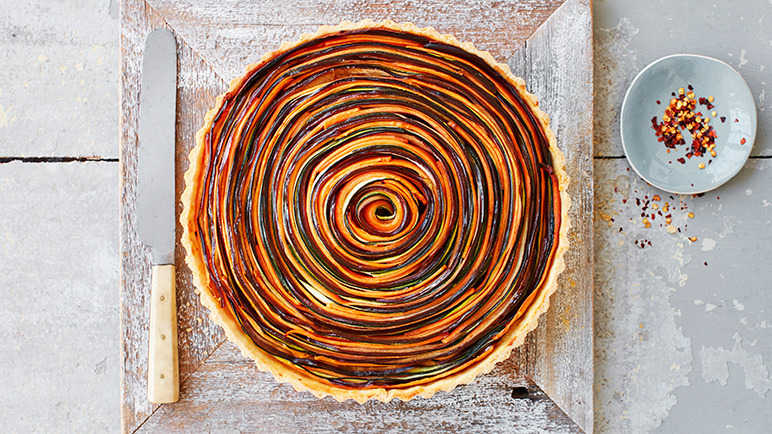 Image: Spiral vegetable tart