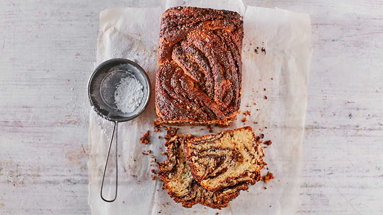 Image: Chocolate and hazelnut babka