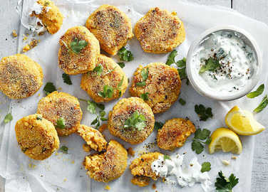 Image: Spiced butternut and chickpea patties