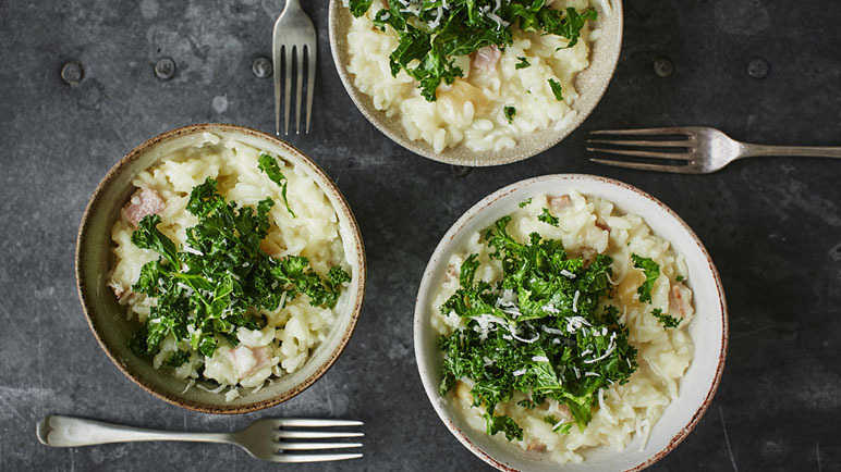Recipe microwave roasted garlic risotto with kale sainsburys image microwave risotto with roasted garlic and kale forumfinder Choice Image