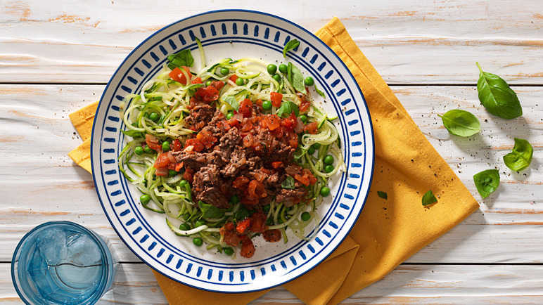Image: Courgetti bolognese