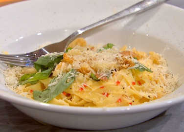 Tagliatelle with chilli and breadcrumb image
