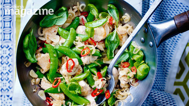 Image: Thai turkey stir-fry with chilli and basil