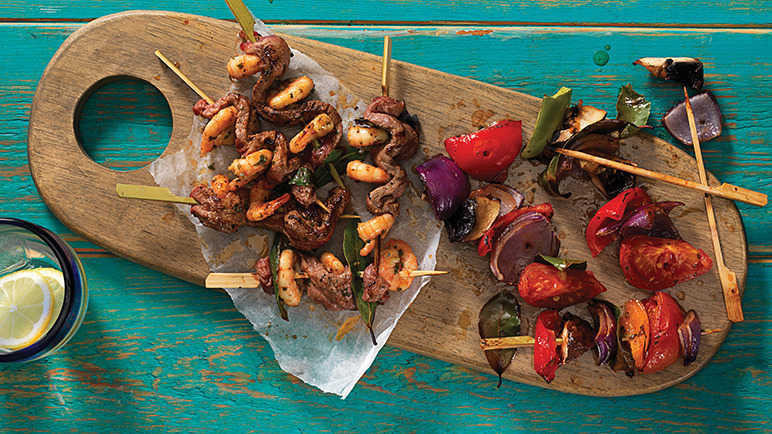 Image: Surf 'n' summer skewers