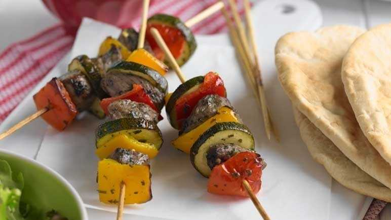 Barbecued lamb kebab image