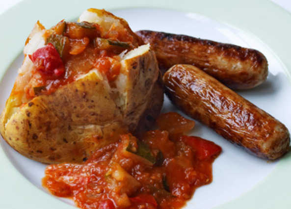 Sausage & potato with ratatouill image