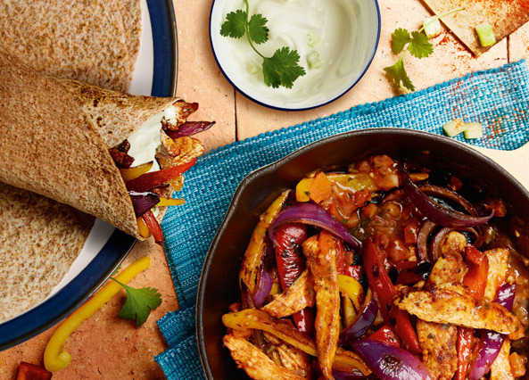 Image: Chicken wraps with Greek yoghurt
