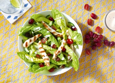 Image: Chicken salad with a red grape twist