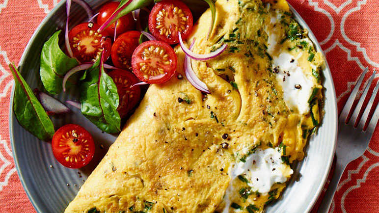 Image: Omelette with a goat's cheese twist