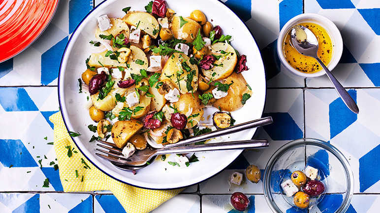 Image: Potato salad with an olive and feta twist