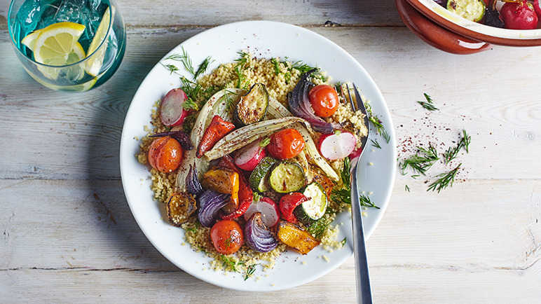 Image: Sumac roasted veg with couscous