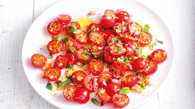Image: Vittoria tomato and mint salad