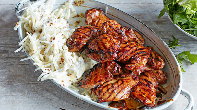 Image: BBQ chicken with fennel and celeriac slaw