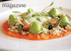 Smoked salmon with fennel and avocado cream