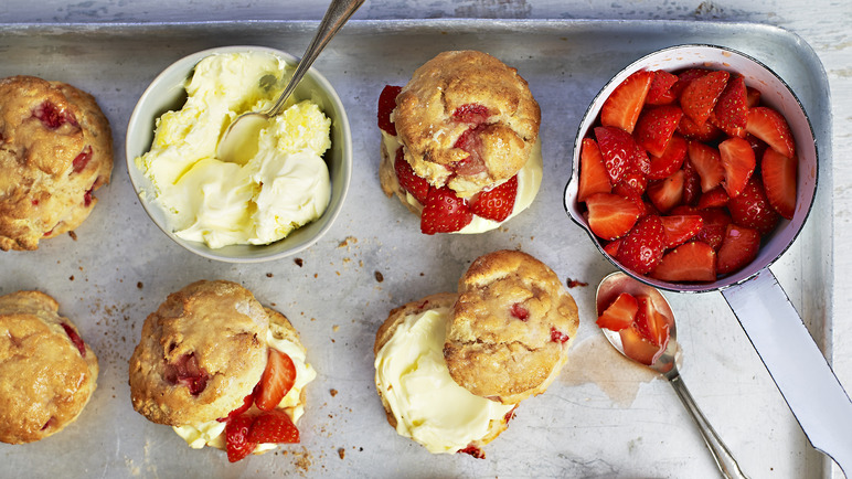 Image: Strawberry and elderflower scones