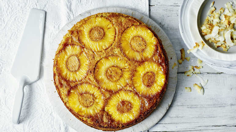 Image: Pineapple and coconut upside down cake