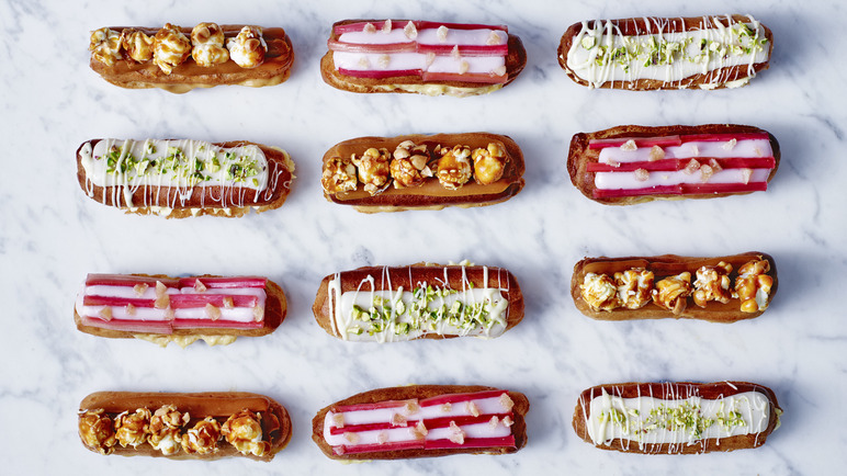 Image: Yuzu, Pistachio and White Chocolate Eclairs