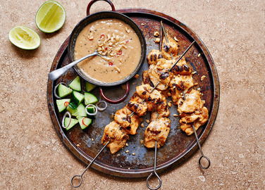Image: Chicken satay skewers