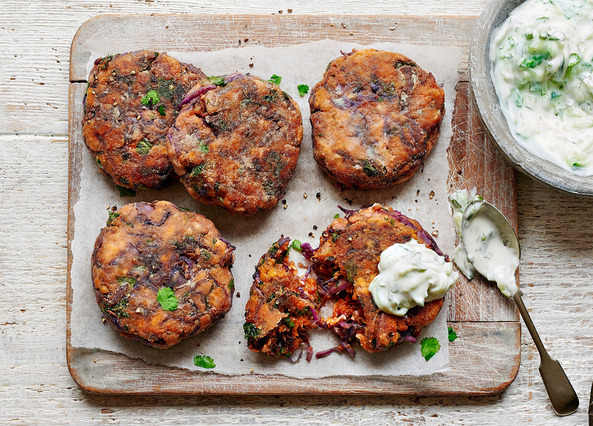 Image: Indian spiced sweet potato cakes