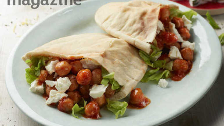 Image: Greek meze pitta pockets