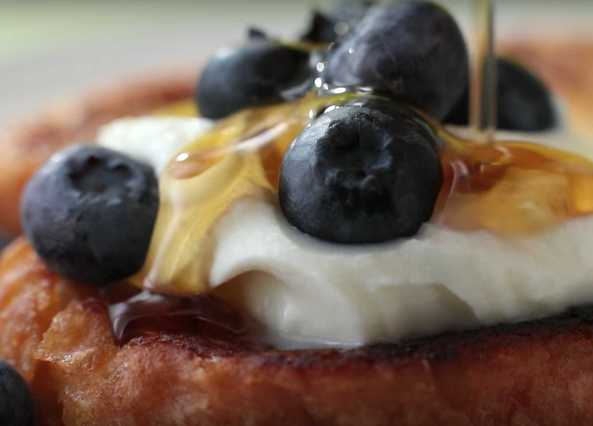 Image: Blueberry French toast with a marscapone twist