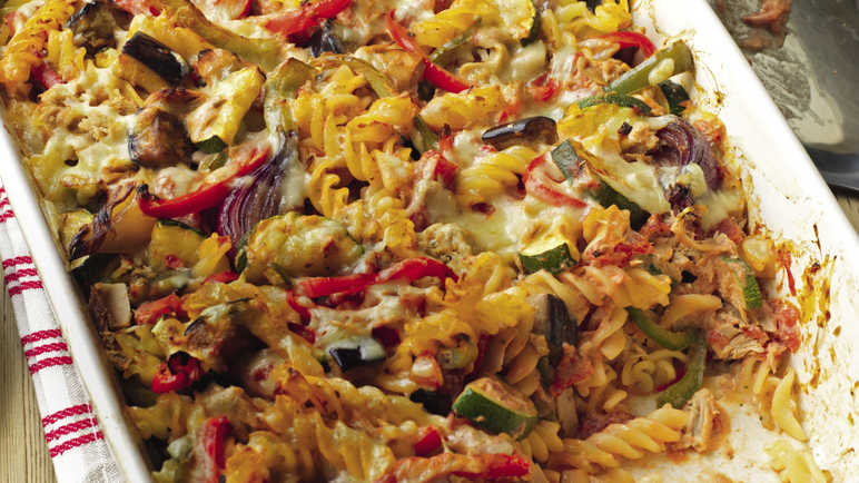 Video: Tuna and vegetable pasta bake with a Greek-yoghurt twist