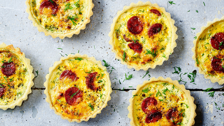 Image: Crab and chorizo tart