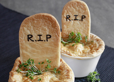Image: Chicken and mushroom grave pies