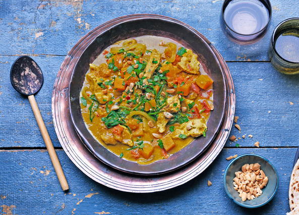 Image: Chicken and butternut squash peanut curry