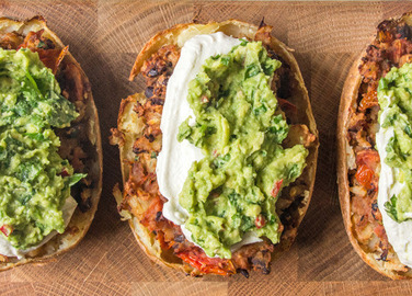 Image: Loaded Mexican potato skins